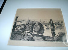 EARLY 20th CENTURY ORIGINAL DRY POINT ETCHING - SCOTTISH ARTIST DONALD CRAWFORD