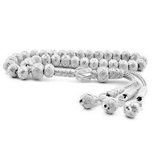 1000 Ct Silver Turkish Kazaz Hand Knitted Islamic Prayer Beads Tasbeeh Rosary