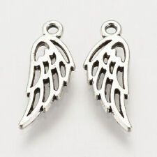 Lady Luck3:  30 x Tibetan Style Antique Silver Angel Wing Charms