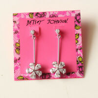 New Betsey Johnson CZ Daisy Earrings Gift Fashion Women Party Holiday Jewelry FS