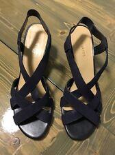 Talbots Women's Blue Slingback Wedge Sandals Size 10M