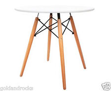 NEW Replica Eames DSW Eiffel Dining Table White Kitchen Side Cafe Round 80cm