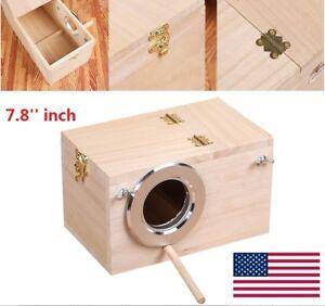 US Shellhard Wooden Nest Pet Parrot Budgies Parakeet Nesting Box Bird Supplies