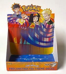 Pokemon Gym Heroes Theme Deck Display Box Empty Brock Misty Erika Lt. Surge