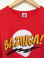 BAZINGA! Big Bang Theory, Red T-Shirt, Medium, George. Sheldon, TBB,
