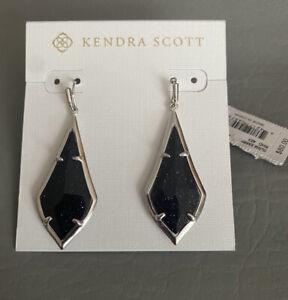 NWT Kendra Scott Olivia Earrings Navy Dust $80.00