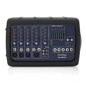 SubZero Lightweight Powered PA Mixer Amp 300W - 7 Channels