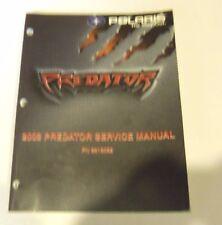 POLARIS PURE OEM USED ATV 2003 PREDATOR SERVICE MANUAL & CD 9918062