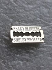 PEAKY BLINDERS ENAMEL BADGE - RAZOR BLADE DESIGN - WEAR ON HAT.