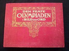 Orig.Report / PRG / Bildersammlung  Olympische Spiele STOCKHOLM 1912  !  RARITÄT