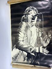 Mick Jagger Rolling Stones 1969 Black and White poster Rare Vintage
