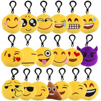 Lovely Emoji Emoticon Amusing Key Chain Plush Toys Pendant Bag Accessory Gift