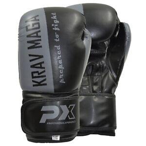 Phoenix PX Boxhandschuhe Krav Maga Kunstleder Schwarz/Grau