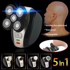 5 in 1 Rechargeable Skull Head Shaver Men's Razor Cordless Hair Clipper Trimmer