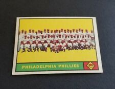 ORIGINAL1961 TOPPS PHILADELPHIA PHILLIES BASEBALL CARD #491 TEAM CARD NR.MINT