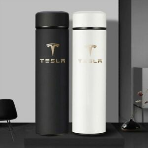 500ml Smart Thermos Bottle With LOGO Temperature Display  For Tesla free ship