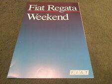 May 1987 Fiat REGATA WEEKEND Estate - FRENCH FOLDER BROCHURE