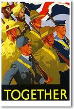 Together Vintage British Army Flag WW2 Art Print POSTER