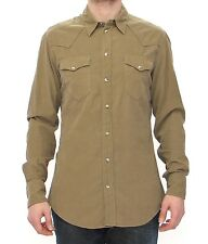 NWT DOLCE & GABBANA Exclusive Green Manchester Sicilia Casual Shirt 40 / M