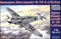 UniModels — Messerschmitt Bf 109G-6/R3/trop — Plastic model kit 1:48 Scale #416