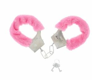 Pink Fluffy Handcuffs Furry Fancy Dress Role Play Toy Hen Night Stag Party Fun