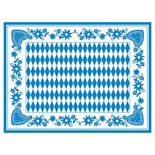 100 Tischsets Airlaid 30 cm x 40 cm Bayrisch Blau Wiesn Oktoberfest Platzsets