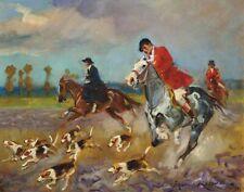 Kossak Von Ritter Wojciech On The Hunt Canvas Print 16 x 20     #4232