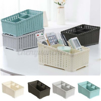 Desktop Plastic Storage Box Stationery Cosmetics Organizer Home Office Case CN