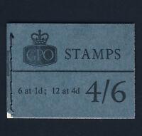 GREAT BRITAIN Queen Elizabeth II November 1967 Wildings Booklet 4/6d. SG L69p