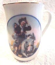 3 Norman Rockwell Porcelain Coffee Tea Mugs Saturday Evening Post, Fast Shipper