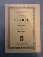 N°1114 - Overture From I Opera - Georg Friedr. Handel - Edizione Eulenburg