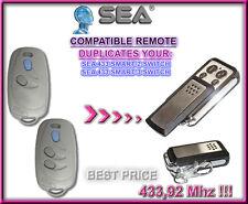 SEA 433 SMART 2 SWITCH / SMART 3 SWITCH compatibile telecomando, CLONE 433,92MHz