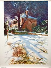 AMAZING LANDSCAPE PAINTING ART SIGNED  PHILLIP WIKOFF LITHOGRAPH