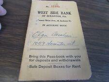 VINTAGE - WEST SIDE BANK  - SAVINGS BOOK - SCRANTON PA 1946
