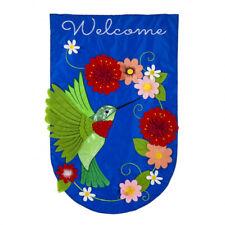 "New listing Hummingbird 158729Bl Applique House Flag 28"" x 44"""