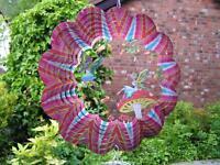 """RRP £24- 10""""/25cm 3D FAIRY GARDEN Wind Spinner Iron Stop Garden Sun Catcher Hook"""