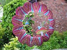 "RRP £24- 10""/25cm 3D FAIRY GARDEN Wind Spinner Iron Stop Garden Sun Catcher Hook"