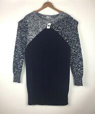 Gap NEW Women's Sz XL Pullover Sweater Cotton Blend Long Sleeve Blue & White