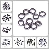 20-100pcs Black Hematite Gemstone Spacer Beads Square/ Star /Heart  6-14mm