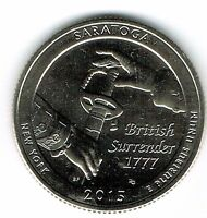 2015-D Brilliant Uncirculated Saratoga National Historial Park Quarter Coin!