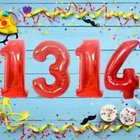 1X Giant Number Foil Balloons Birthday Party Balloon Home Decoration NEW M2Q3