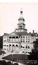 D53/ Hillsdale Michigan Mi RPPC Postcard County Court House 1953    16