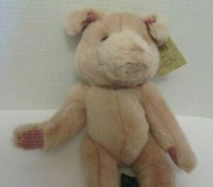 "Pigmallion pink pig plush stuffed animal Russ Berrie Heart Craft Collection 14"""