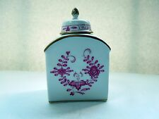 MEISSEN Tea Caddy with Cover Indian Purple Indische Malerei Purpur Hand Painted