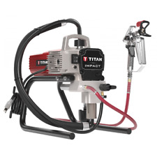 Titan 410 Impact 3100 Ps 0.47 Gpm Electric Airless Paint Sprayer Skid w/ Gun,.
