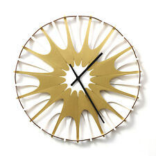 Neuron - contemporary organic wall clock made of bent plywood