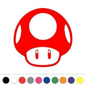 Super Mario Bros Mushroom Vinyl Decal Sticker Laptop Car Window Pick Color Size