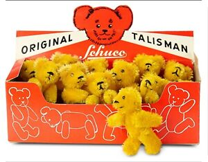 12 German Golden Mohair Miniature Talisman Teddies by Schuco in Original Box!!