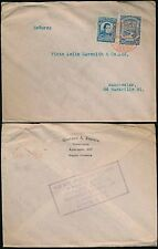 COLOMBIA 1923 BOXED GB INFO BUREAU SLOGAN USE COLOMBIAN AIRMAIL in RED...ZAPATA