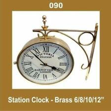 New Outdoor Nautical Station Wall Clock 6'' Brass Made AUD